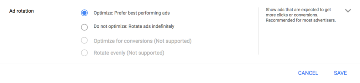 Google-ads-new-updated-ad-rotation-setting