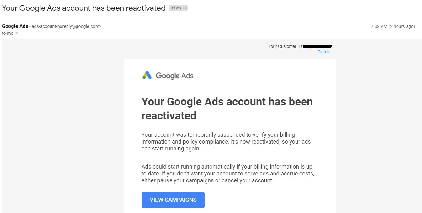 How to Recover Suspended Google Ads Account